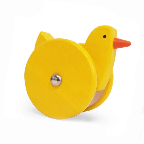 AIA Store - Wooden Wobbling Chicken Pull/Push Toy by Bajo Poland - American Institute of Architects