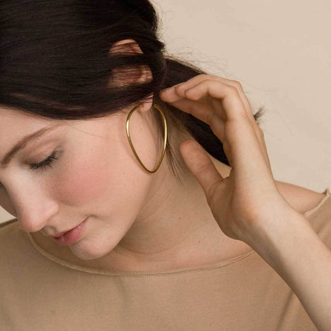 Maxi Sabi Organic Hoop Earrings by SOKO