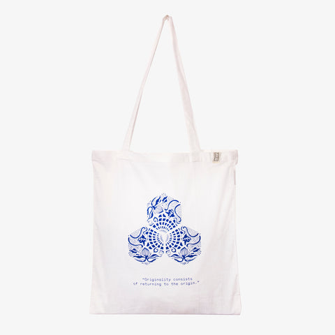 "Gaudi Quote Tote  - ""Originality consists of returning to the origin"""