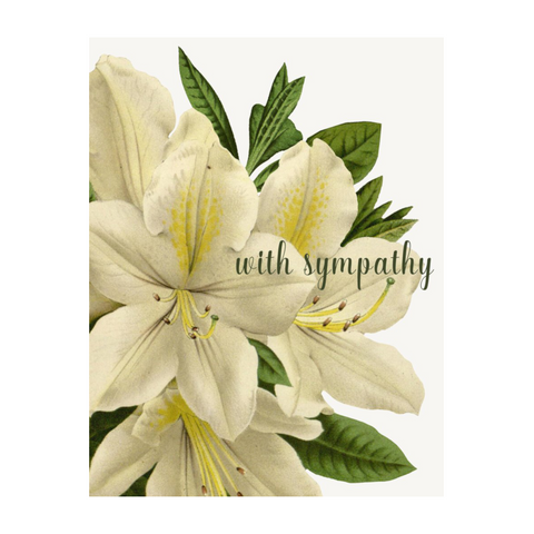 With Sympathy Lillies