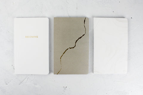 You Are Becoming: Set of 3 Blank Notebook