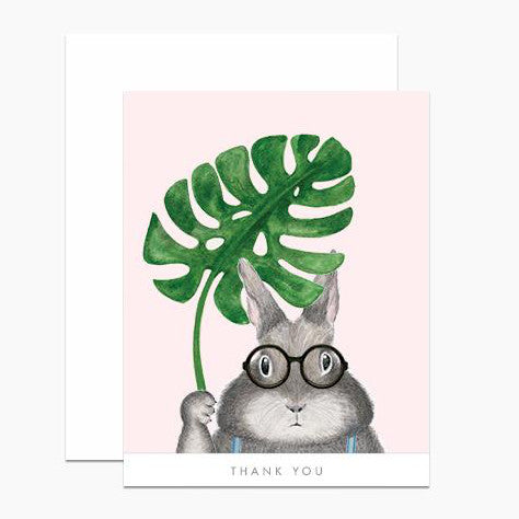 Bunny with Monstera