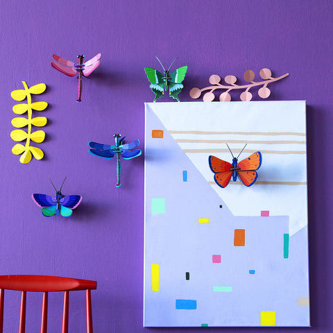 Insect 3D Wall Décor: Beetle & Butterflies