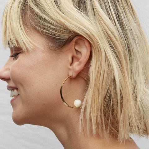 Zuri Orb Threader Earrings by SOKO