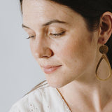 Big Oval Brass Earrings by Nest Pretty Things