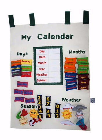 English interactive calendar (white)