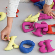 English plush alphabet bag