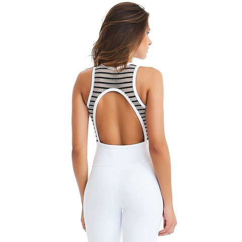 Triumph White Bodysuit - Energy Flow Activewear