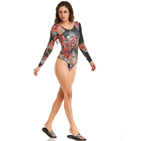 Floral Manga Bodysuit - Energy Flow Activewear