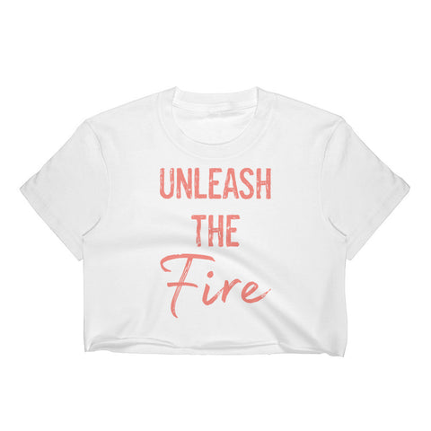 Unleash The Fire Crop Top - Energy Flow Activewear