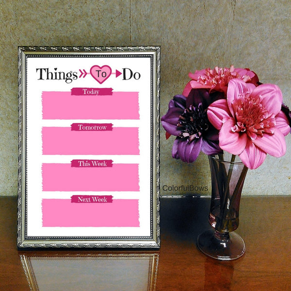 To Do List Templates, Colorful and Seasonal Printables at ColorfulBows