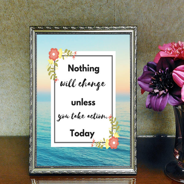 Take Action Now Motivational Printable (Digital Download) at Mom Succeeds