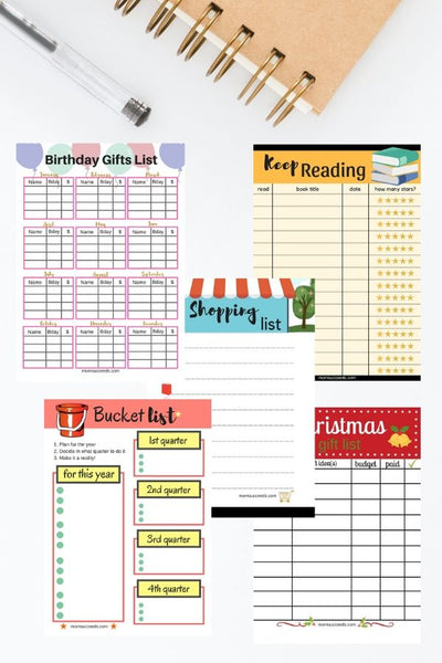 Daily List Templates at ColorfulBows