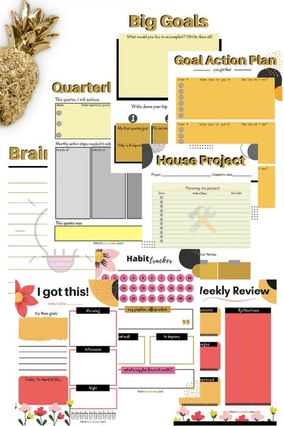 Daily Goals Templates - Planning and Projects (8 pages) at ColorfulBows