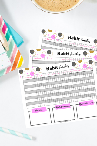 Habit Tracker Template at ColorfulBows