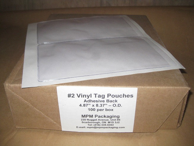 Satin Finish Vinyl Tag Pouch (per 150)