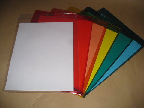 Vinyl Document Holder - Aqua (per 100)