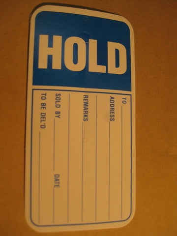 Slitted Hold Tag - Blue (1,000 per box)