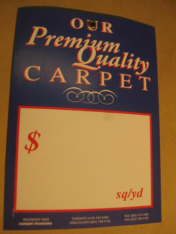 Premium Quality Carpet Tag - Blue (500 per box)