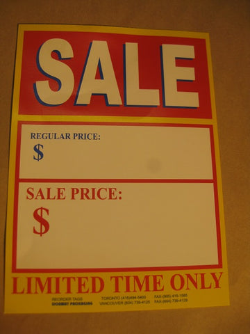 Sale - Limited Time Only Tag - Red (500 per box)