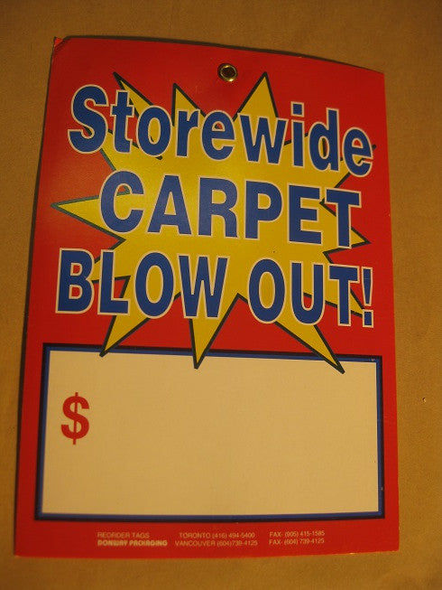 Storewide Carpet Blowout Tag - Red (500 per box)