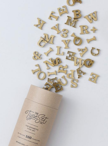 Classic Gold Magnetic Letters