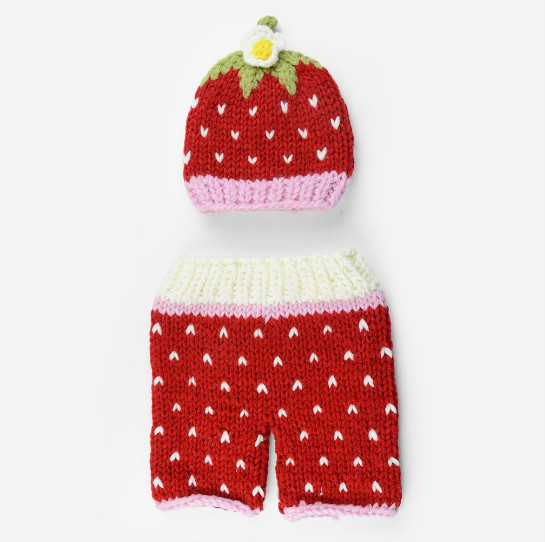 Addie Strawberry Knit Set