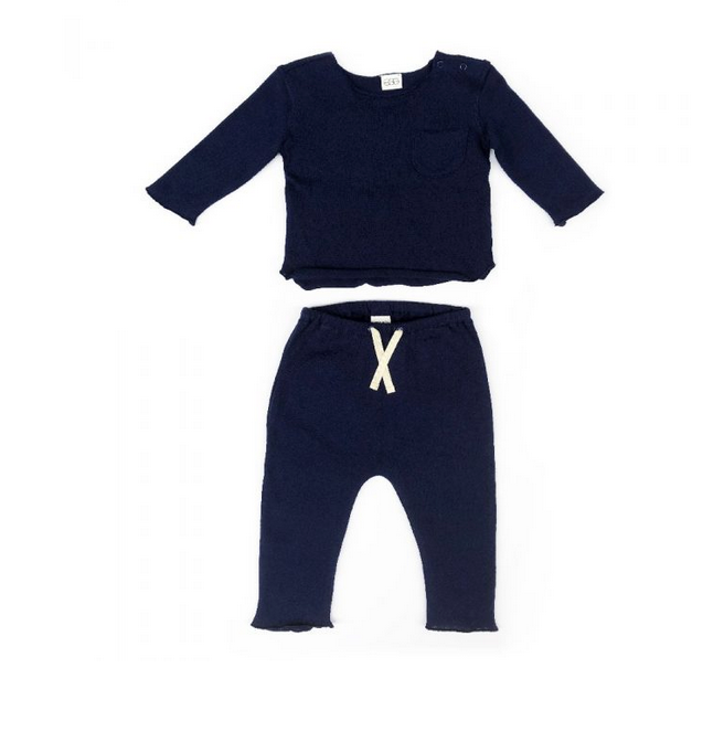 Navy Blue Bobbi Set