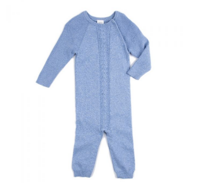 Light Blue Quinn Cable Layette