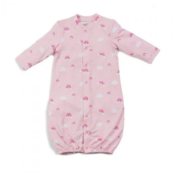 Rainbow Layette Gown NB-3M