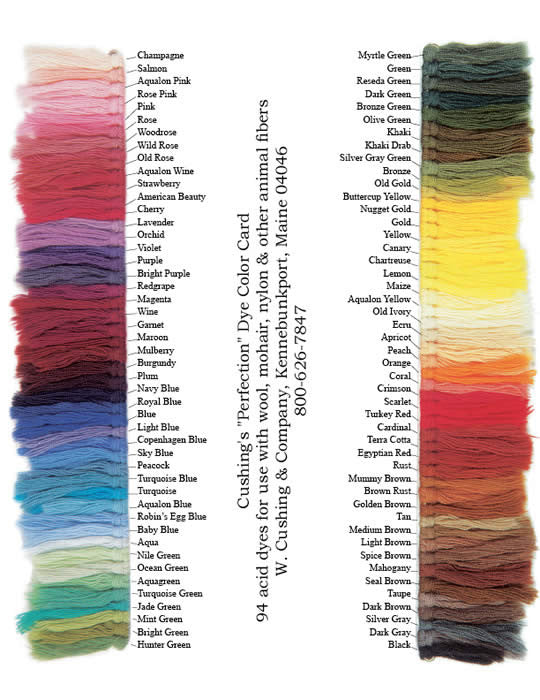 Cushing's Perfection Acid Dye- Wool