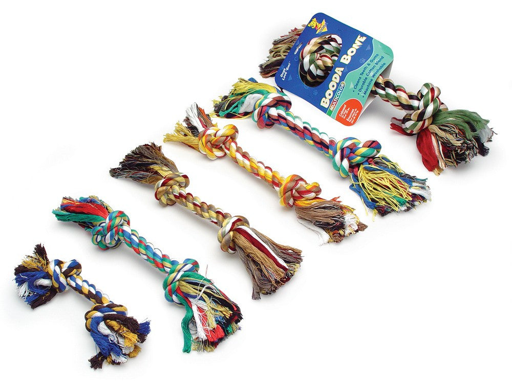 Booda 2-Knot Rope Bone Multi-Color Colossal