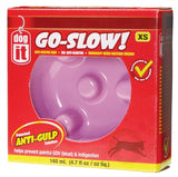 Dogit Go Slow Anti-Gulping Bowl, Pink, X-Small