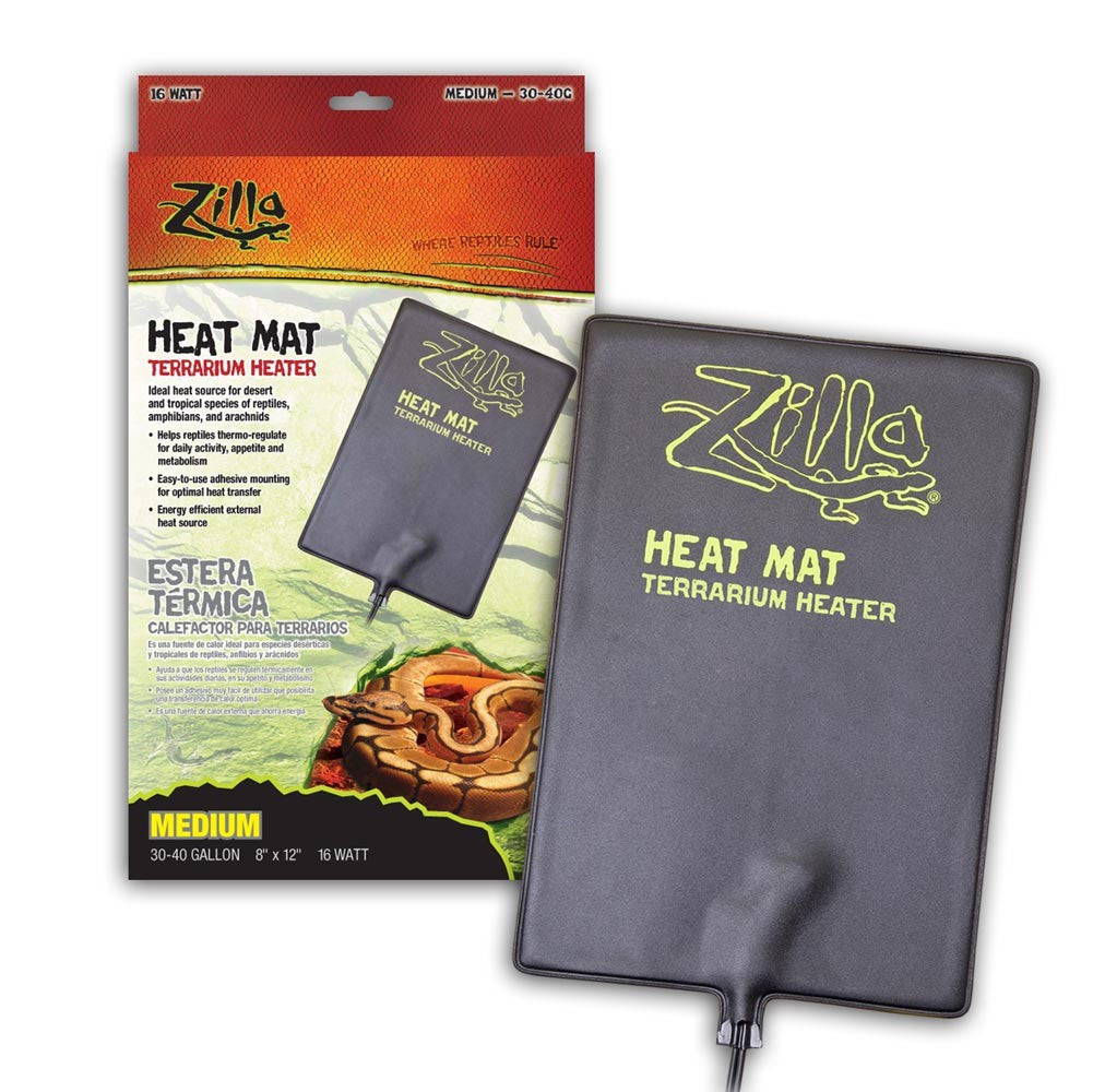 Zilla Heat Mat Medium 30-40gal 8X12 16W