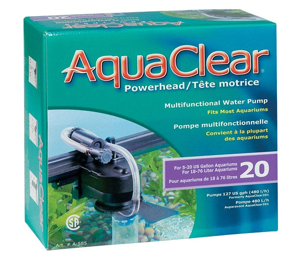AquaClear 20 Powerhead, 127 GPH, UL Listed
