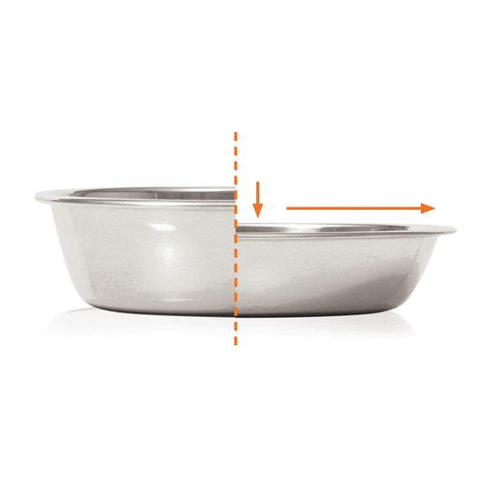 Catit Food Dish, Double, White
