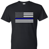 Back the Blue Flag Unisex T-shirt. S-XXL.