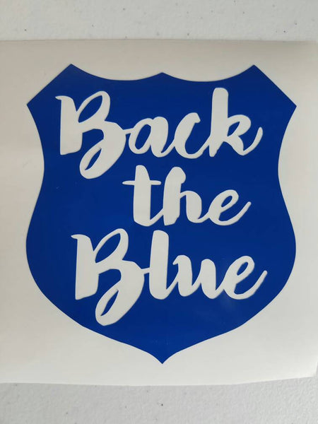 Back The Blue Vinyl Decal For Yeti Car Window Tumbler