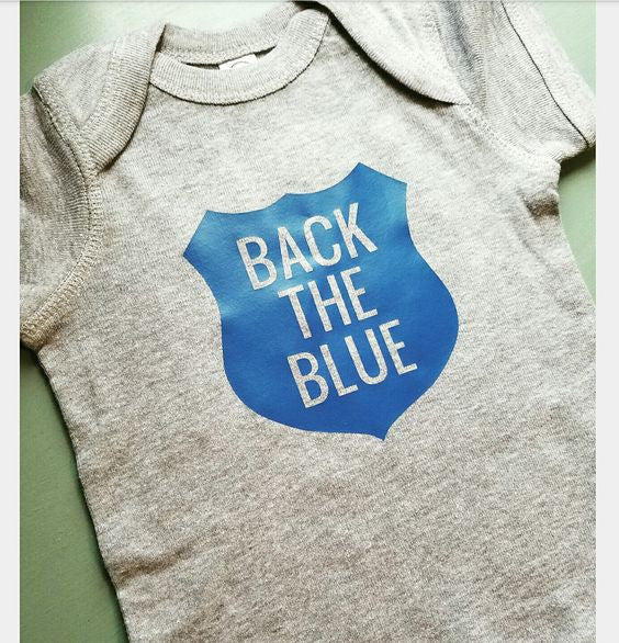 Back The Blue Baby Onesie NB - 24 Mos.