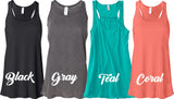Beachin' Flowy Tank Top. S-XXL.
