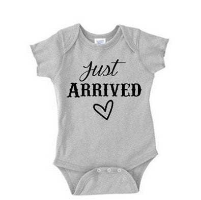 Just Arrived Newborn Baby Onesie NB - 24 Mos.