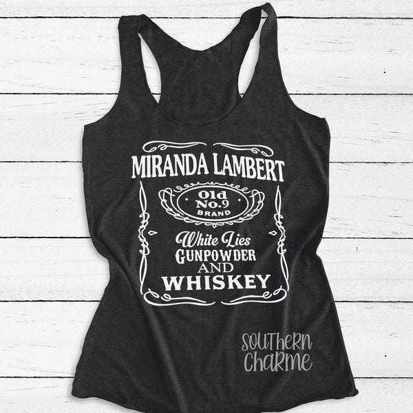 Miranda Lambert Whiskey Tank Top. S-XXL.