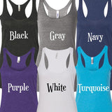 Ain't Going Down Til The Sun Comes Up Glitter Tank Top. S-XXL.