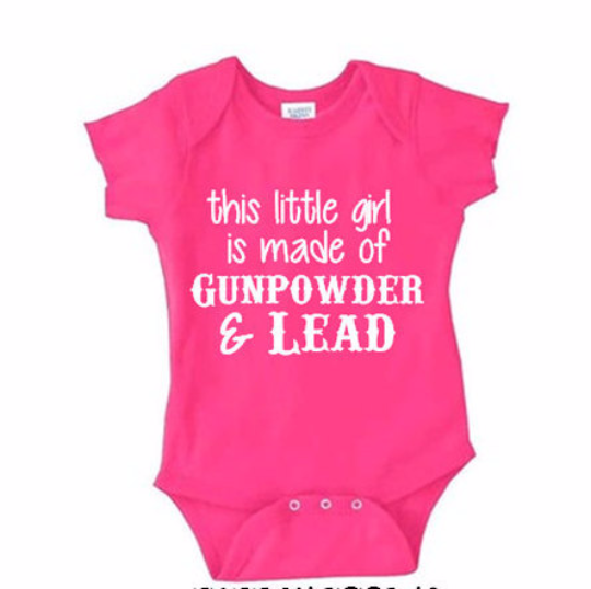 Gunpowder and Lead Baby Onesie. NB - 24 Mos.