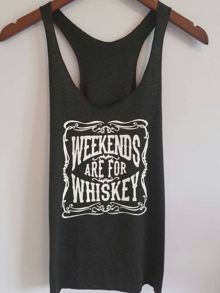 Weekends Are For Whiskey Tank Top. S-XXL.