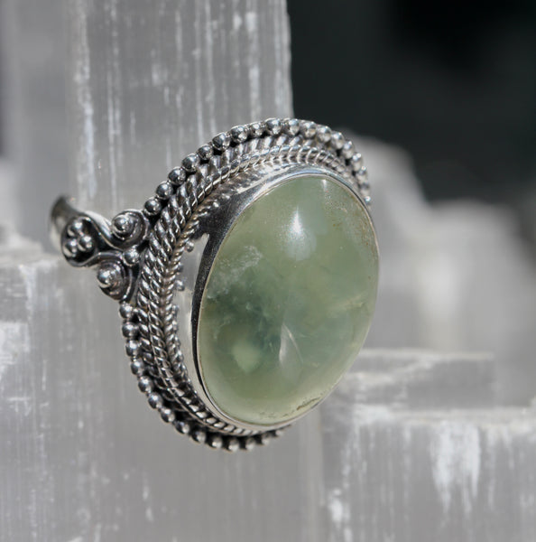 Prehnite Statement Ring
