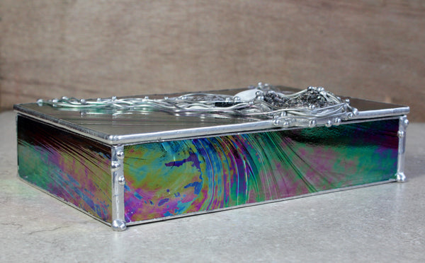 Mystic Black Crystal Glass Box