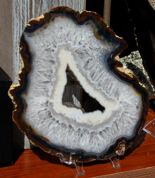 Natural Agate with Open Druzy Center
