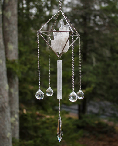 Quartz Selenite Crystal Mobile