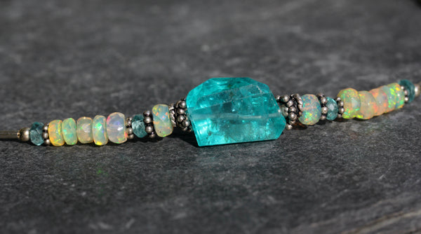 Apatite and Opal Necklace